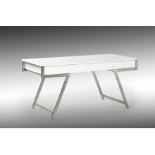 Modrest Dessart Modern White Gloss Desk