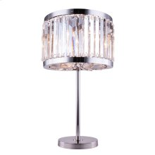1203 Chelsea Collection Table Lamp Polished Nickel Finish