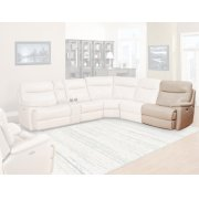 DYLAN - CREME Power Right Arm Facing Recliner Product Image