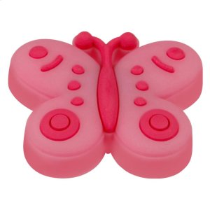 Kids Pink Butterfly Cabinet Knob Product Image