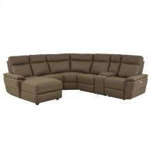 6-Piece Modular Power Reclining Sectional with Left Chaise