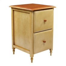 File Cabinet In Country Cottage Buttermilk & Cherry Finish