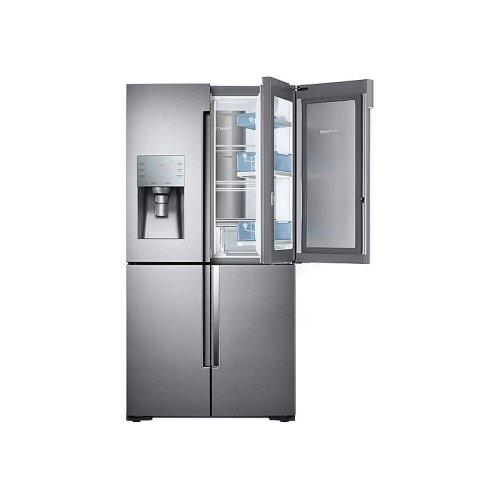 22 cu. ft. Food Showcase Counter Depth 4-Door Flex Refrigerator with FlexZone in Stainless Steel