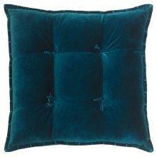 Talia Velvet Pillow, TEAL, 20X20