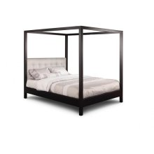 Brooklyn King Canopy Bed with Wood Headboard Panel
