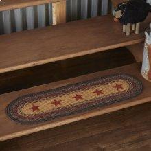 Landon Jute Stair Tread Stencil Stars Oval Latex 8.5x27