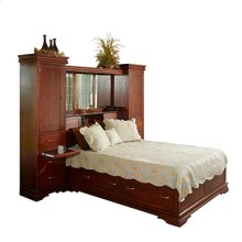 Legacy Bookcase Bed with Bridge, Towers, Mirrors, and Lights