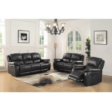 8028 Black Manual Reclining Chair