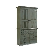 Patina Card Catalog Armoire