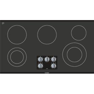 "500 Series, 36"" KNOB CNT, 5 ELEMENT, ELEC. C-TOP BLACK Product Image"