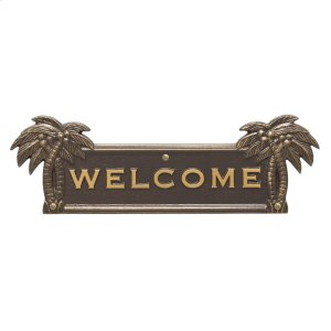 Palm Tree Welcome Plaque - Bronze/Gold Product Image