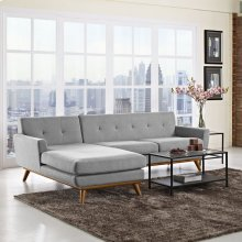 Engage Left-Facing Sectional Sofa in Expectation Gray