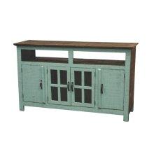 Turquoise Hacienda TV Stand