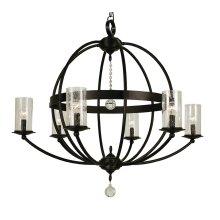 6-Light Compass Foyer Chandelier