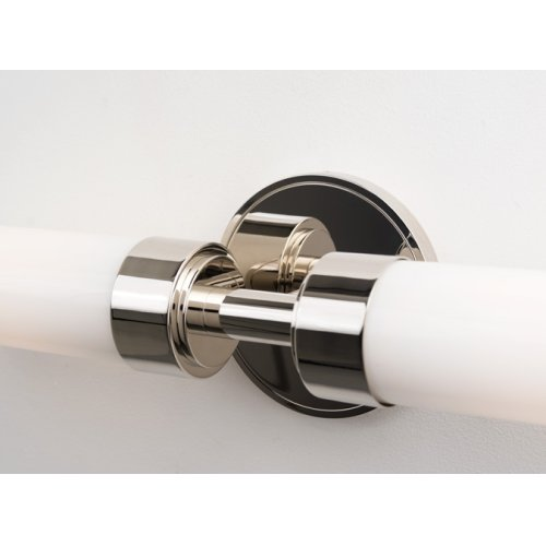 FLUORESCENT CIRC DUO ROUND SCONCE - BRUSHED NICKEL