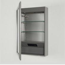 """Revival 20"""" Medicine Cabinet-left - Glossy Medium Gray"""