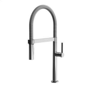 Single Handle Kitchen Faucet With Spring Spout and Magnetic Spray Head- Chrome Product Image