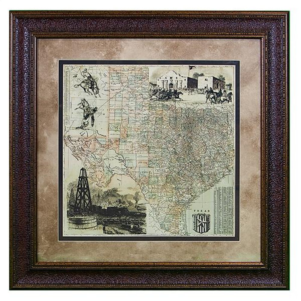 Large Texas County Map