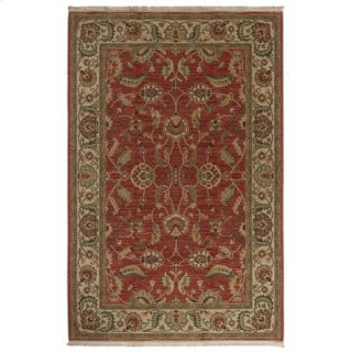 Agra Red Rectangle 4ft 3in X 6ft
