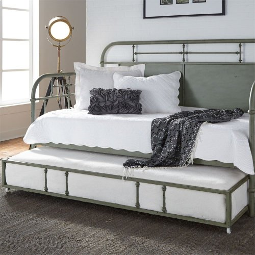 Twin Metal Trundle - Green