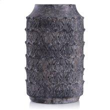 Binani Charcoal  16in x 9in Decorative Concrete Vase