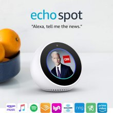Echo Spot - Smart Alarm Clock with Alexa - White