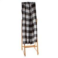 Black & White Buffalo Plaid Knit Throw Product Image