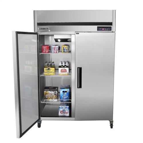 MCRT-49FD Reach-In Refrigerator, Double Door, Top Mount