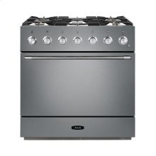 AGA Mercury 36 Dual Fuel Stainless Steel with Chrome trim