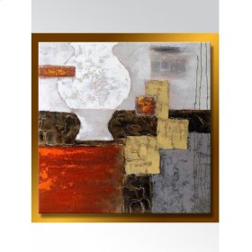 Art Canvas With Silver Frame- Abstract