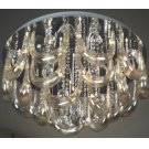 Crystal Flush Mount Lamp, Chrome/crystals, Type Jc/g4 20wx15 Product Image