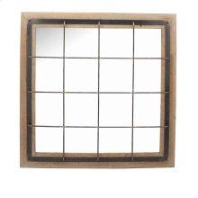Ec, Square Wood/metal Grid Mirror