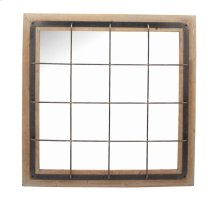 Ec, Square Wood/metal Grid Mirror