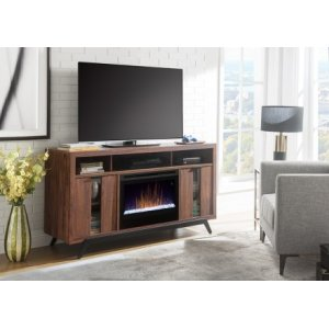 Luna Media Console Electric Fireplace