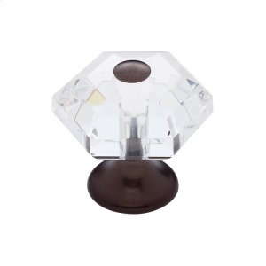 Old World Bronze 30 mm 6-Sided Crystal Knob Product Image