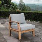 Marina Outdoor Patio Teak Left-Facing Sofa in Natural Gray Product Image