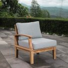 Marina Outdoor Patio Teak Left-Facing Sofa in Natural Gray Product Image