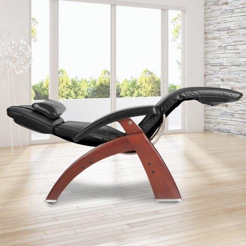 Perfect Chair PC-420 Classic Manual Plus - Black Premium Leather - Dark Walnut