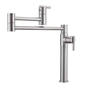 Cadby Dual Handle Deck Mount Pot Filler - Brushed Nickel Product Image