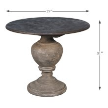Round Stone Top Dining Table