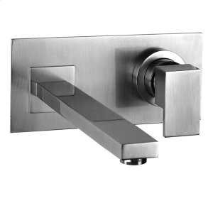 """TRIM PARTS ONLY Wall-mounted washbasin mixer trim Spout projection 7-7/8"""" Drain not included - See DRAINS section Requires in-wall rough valve 26697 Max flow rate 1 Product Image"""