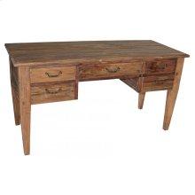 Reclaimed Pine 5-Drawer Desk