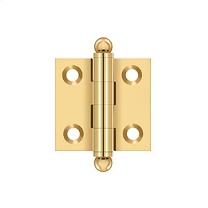 "1-1/2""x 1-1/2"" Hinge, w/ Ball Tips - PVD Polished Brass Product Image"