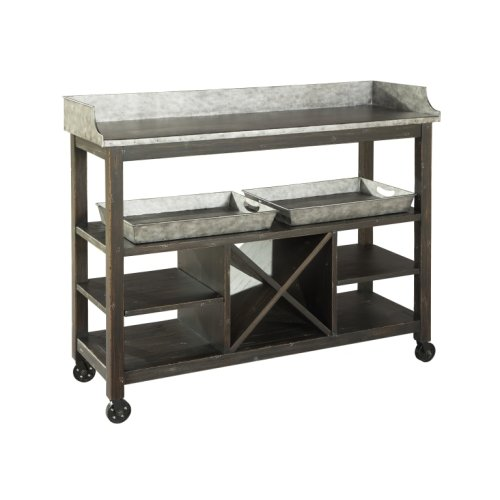 Metal Console/Serving Cart