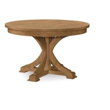 Round to Oval Pedestal Table - Nutmeg