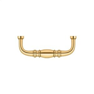 """Colonial Wire Pull, 3"""" - PVD Polished Brass Product Image"""
