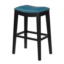 30'' Bar Stool W/no Back-kd-pu Teal#al850-10