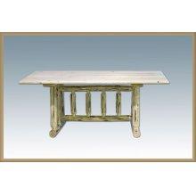 Montana Log Trestle Dining Table