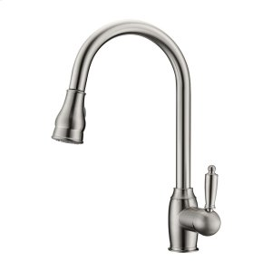 Bay Single Handle Kitchen Faucet with Single Handle 2 - Brushed Nickel Product Image