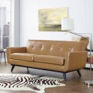 Engage Bonded Leather Loveseat in Tan Product Image